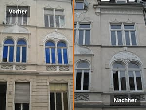 Denkmalschutz Fenster Vorher/Nachher