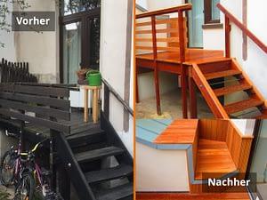 Terrasse Vorher/Nachher