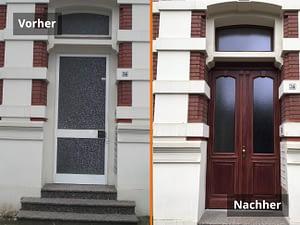 Tür Vorher/Nachher